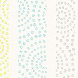 Non-woven polka dot pattern wallpaper, GREEN/TURQUOISE, swatch