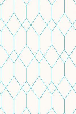 Wallpaper with geometric pattern, WHITE, detail