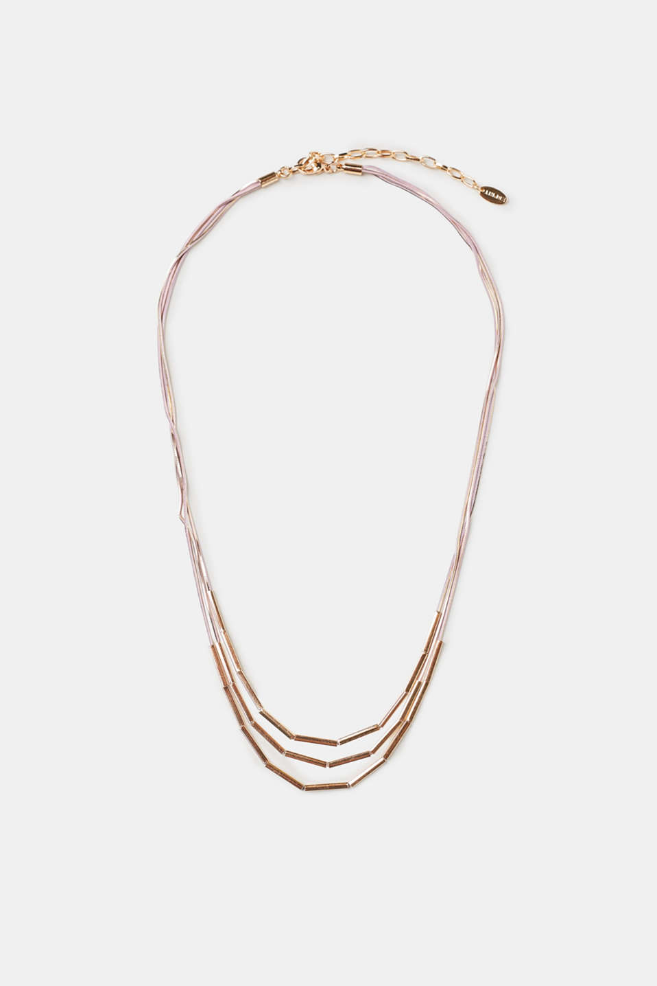 Esprit - Multi-strand pink-tone necklace