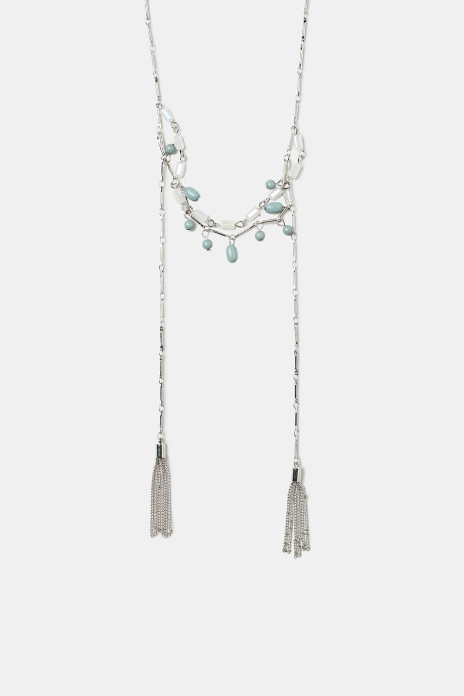 Esprit - Link chain with stones and metal tassels