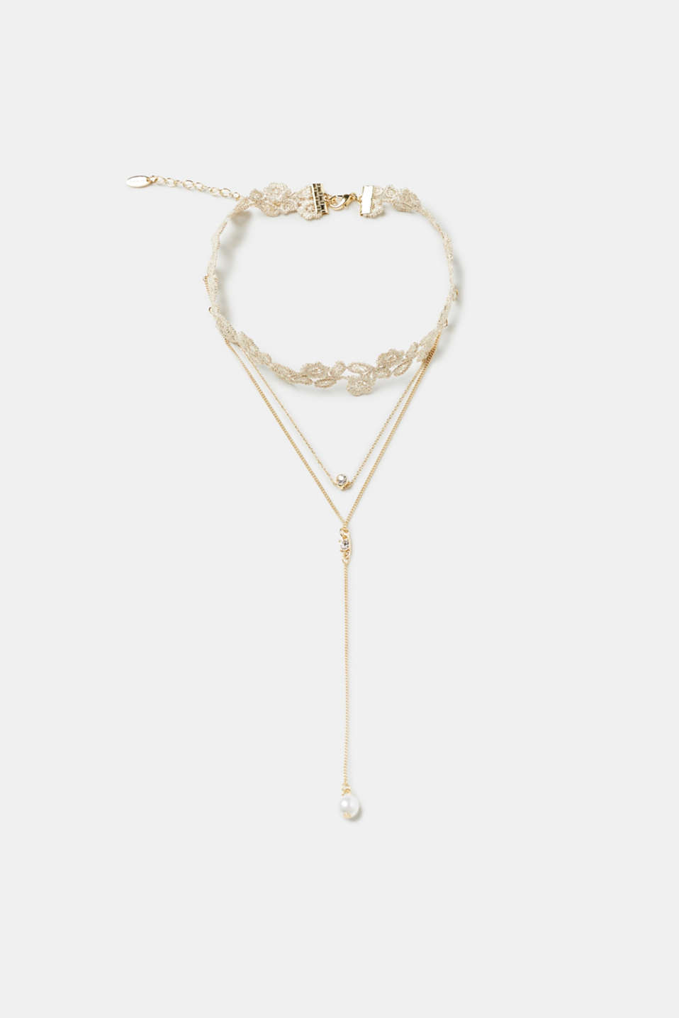 Esprit - Lace choker with small chain