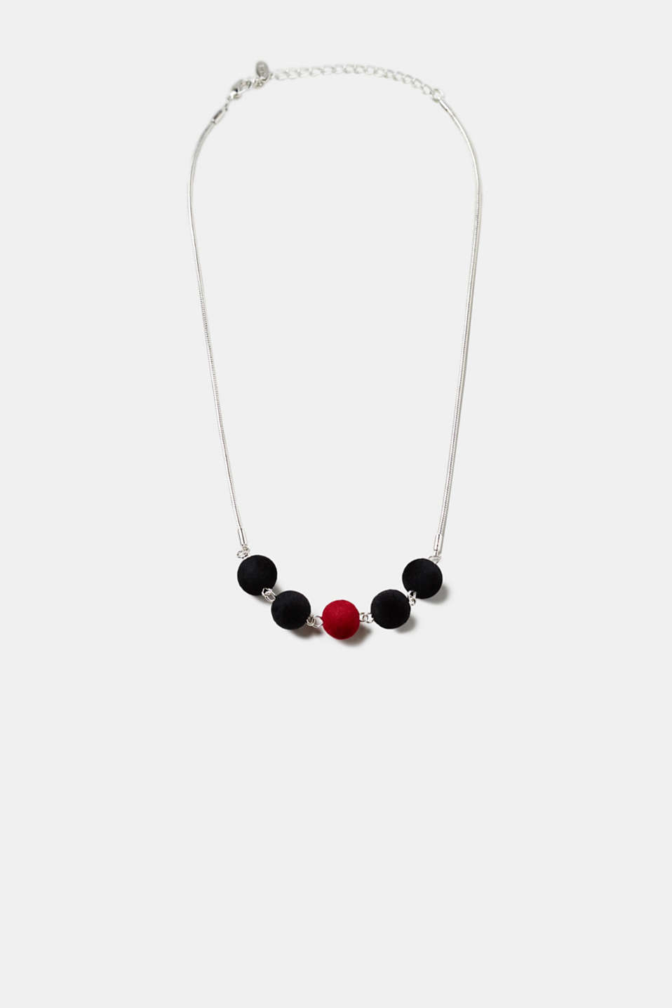 Esprit - Necklace with velvet beads