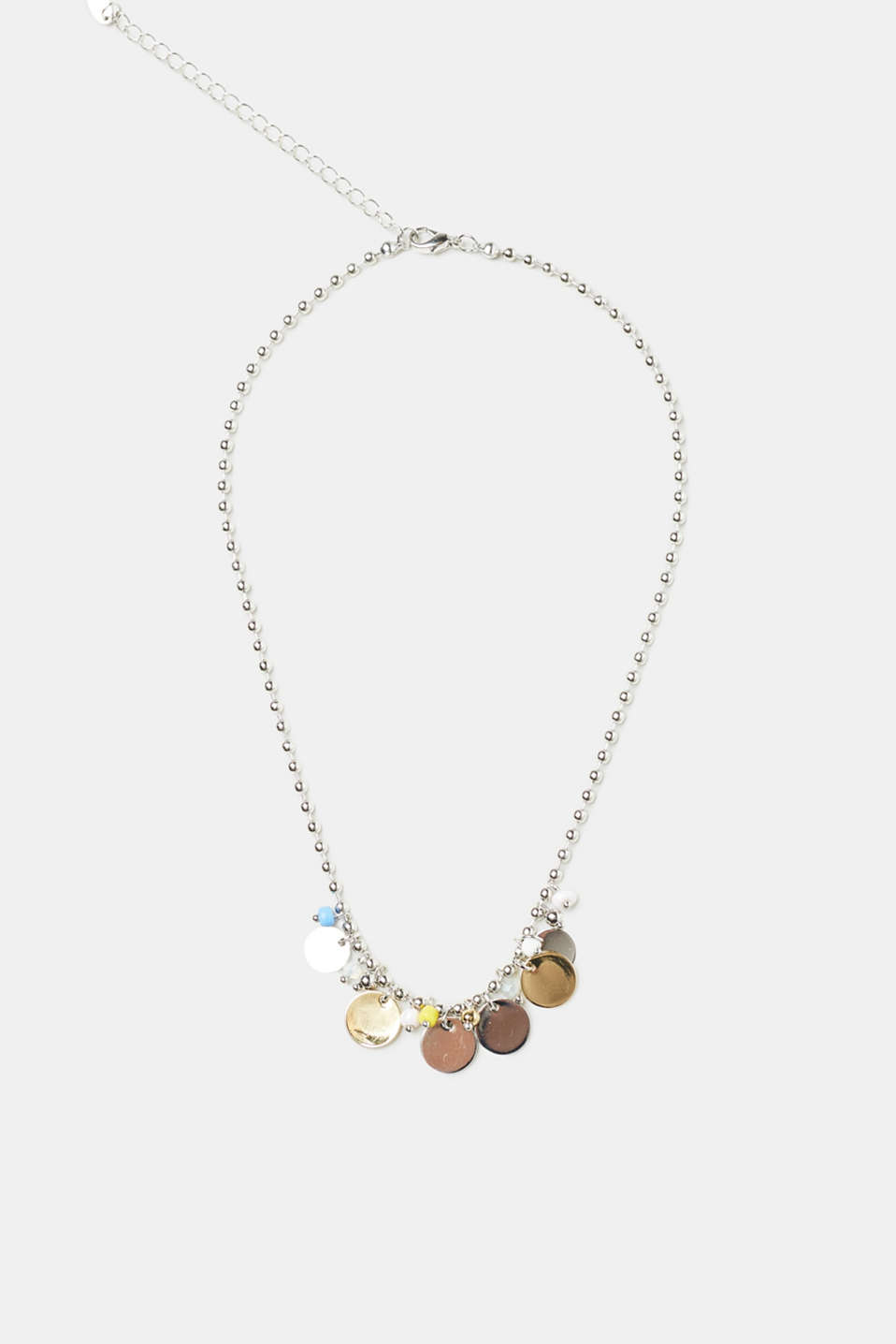 Esprit - Metal bead necklace with pendants
