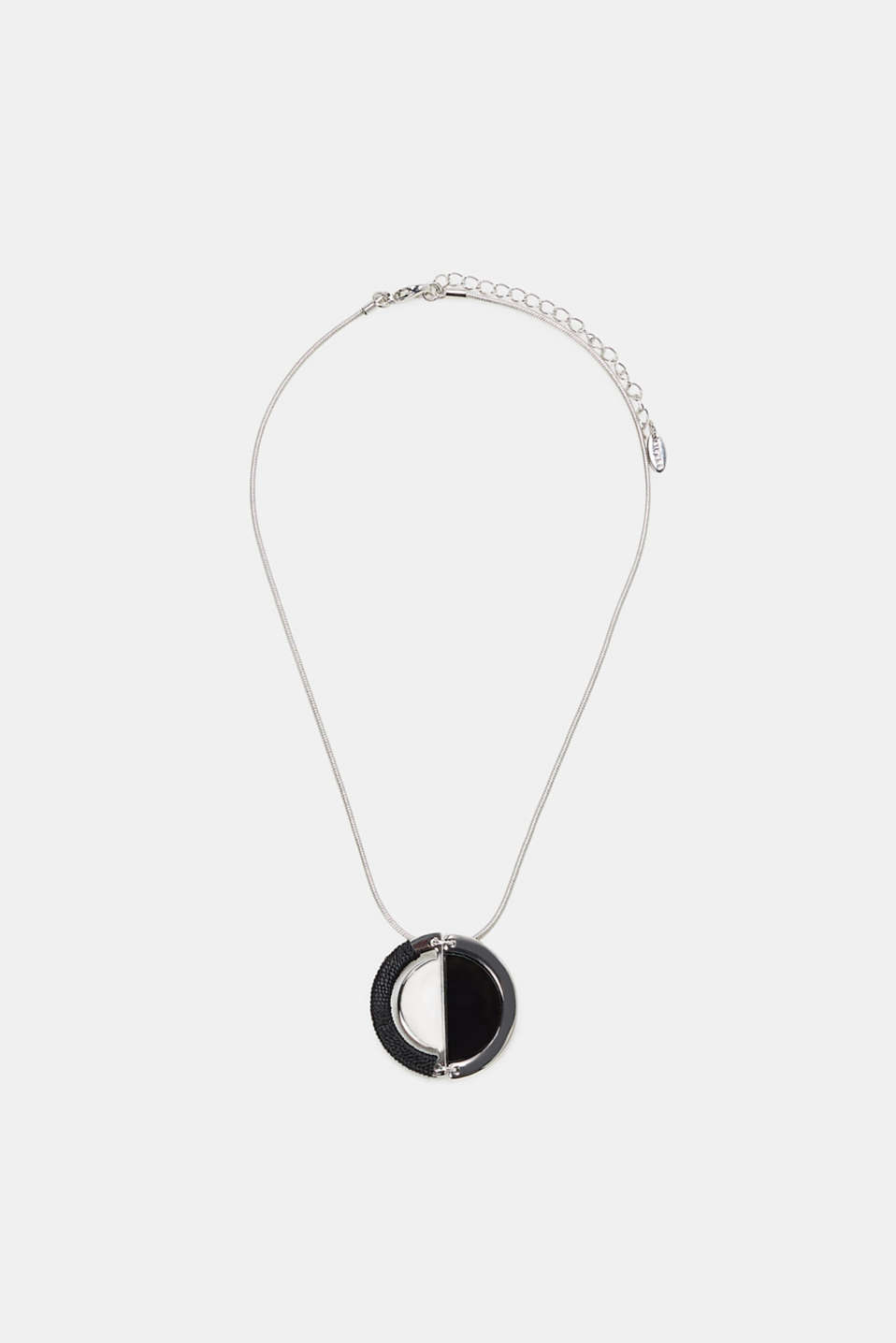 Esprit - Short snake chain with a yin-yang pendant