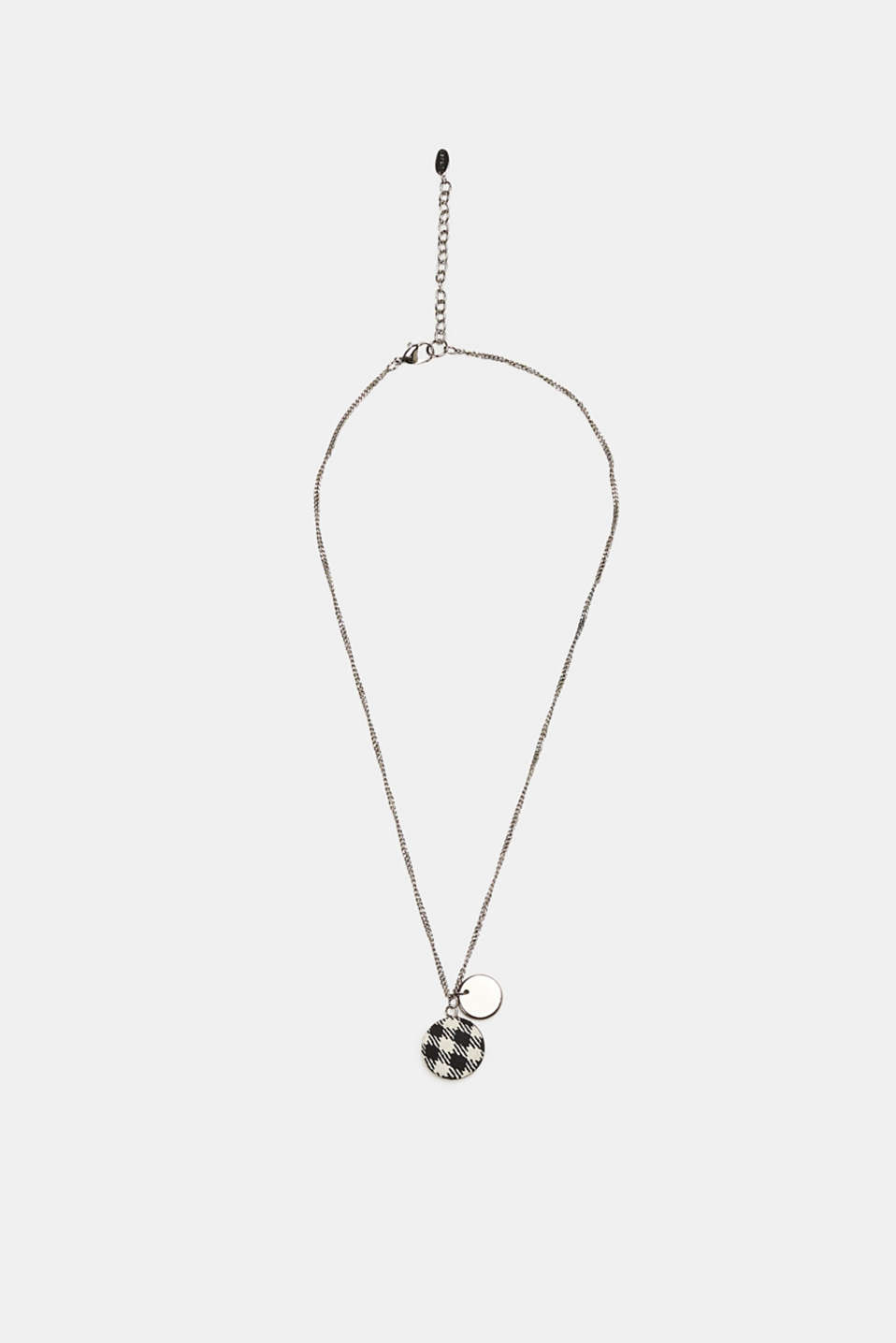 Esprit - Necklace with a coated check pendant