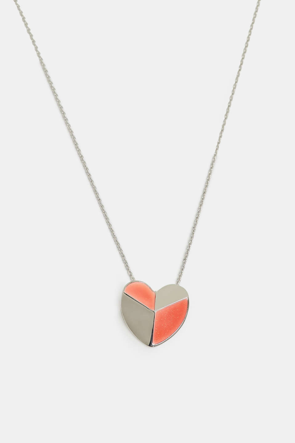 Esprit - Necklace with a three-dimensional heart pendant