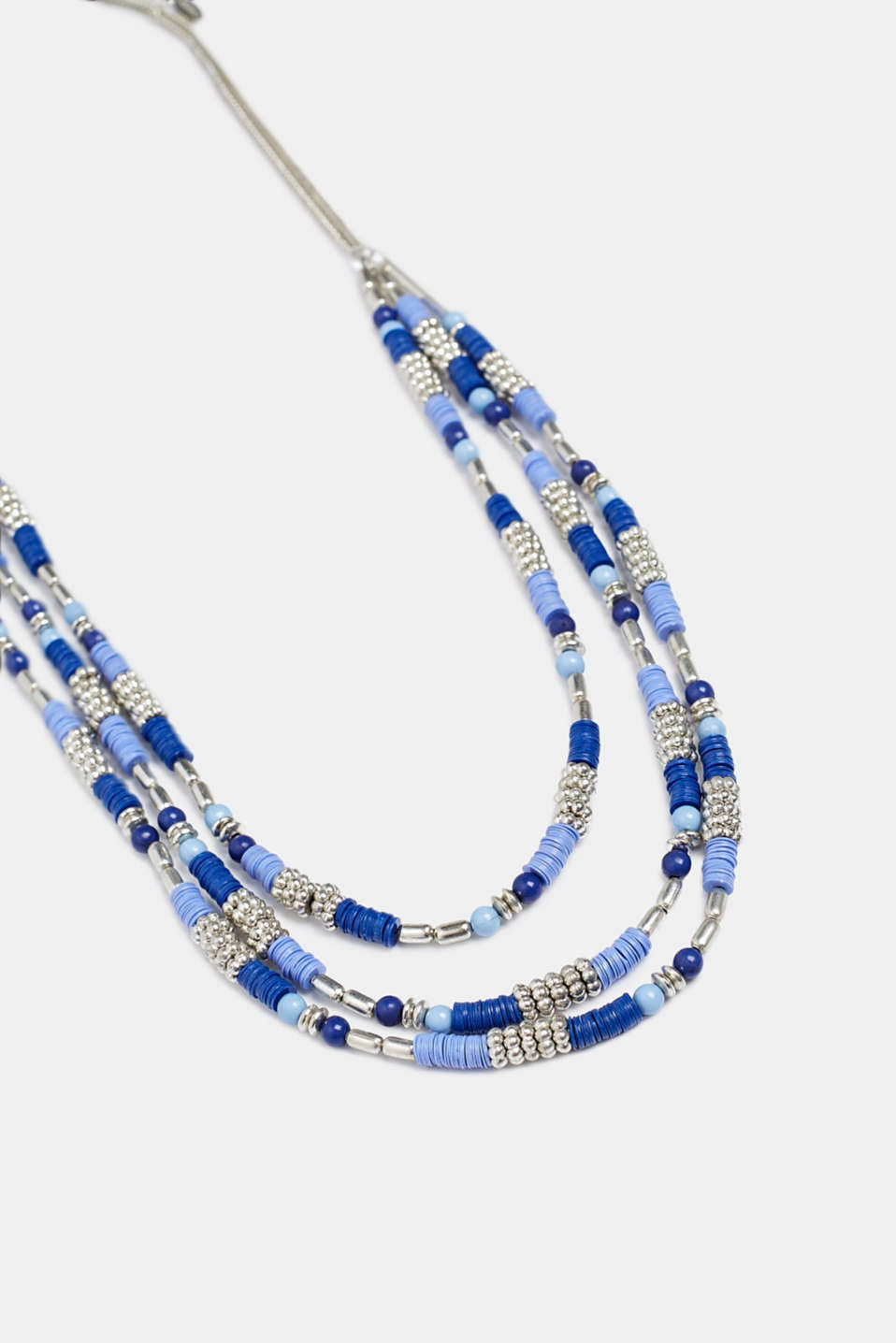 Multi-strand necklace with beads, BLUE, detail image number 0