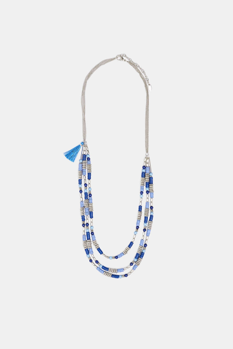 Multi-strand necklace with beads, BLUE, detail image number 1