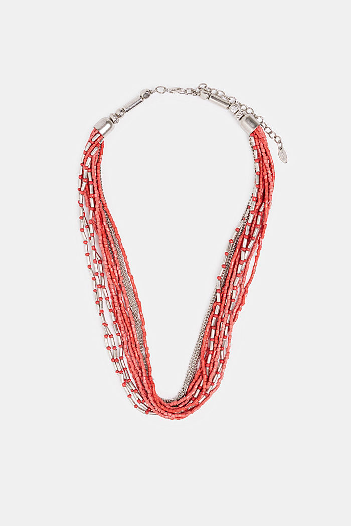Mehrreihige Kette mit Perlen, RED, detail image number 0