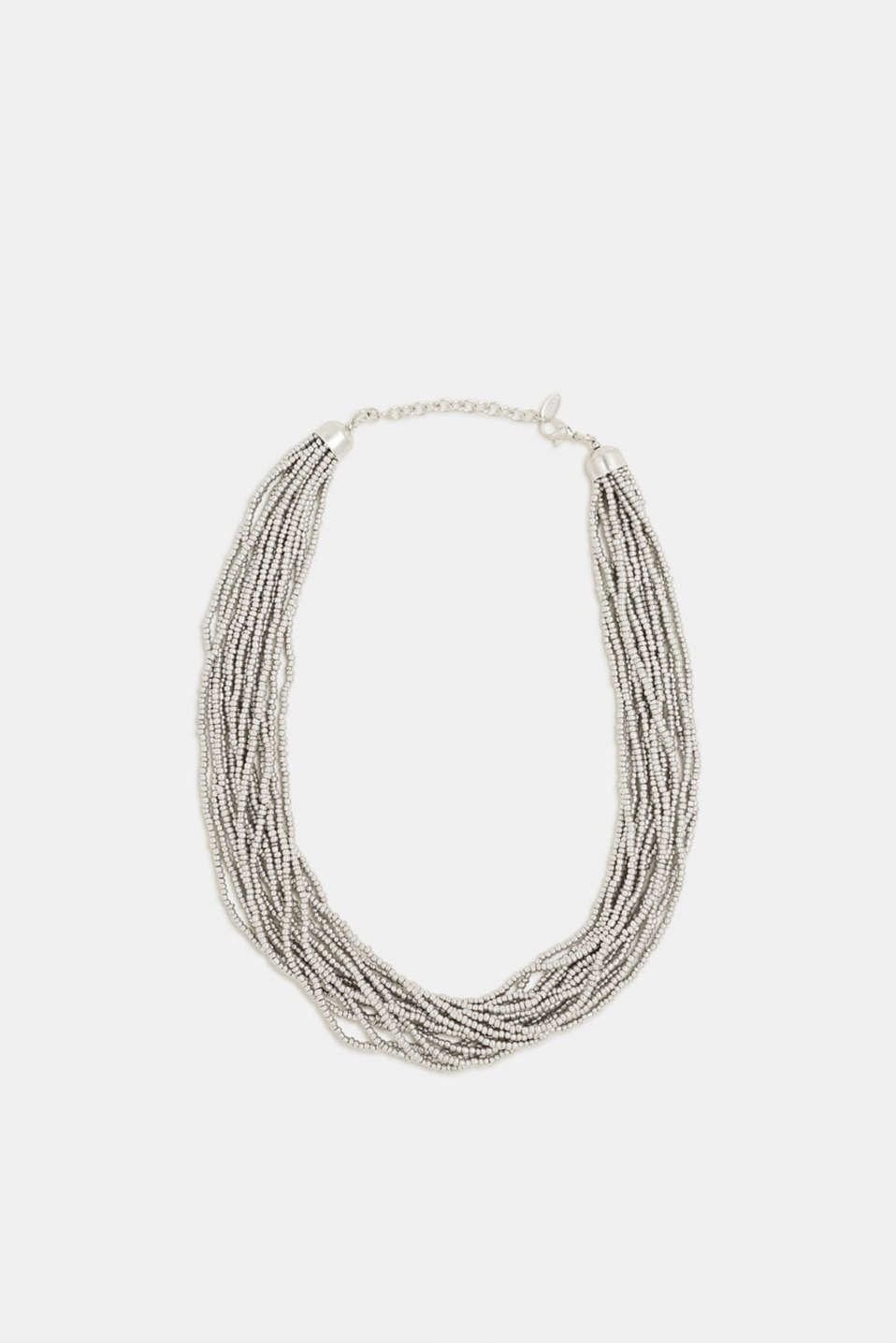 Esprit - Multi-strand choker with metal beads