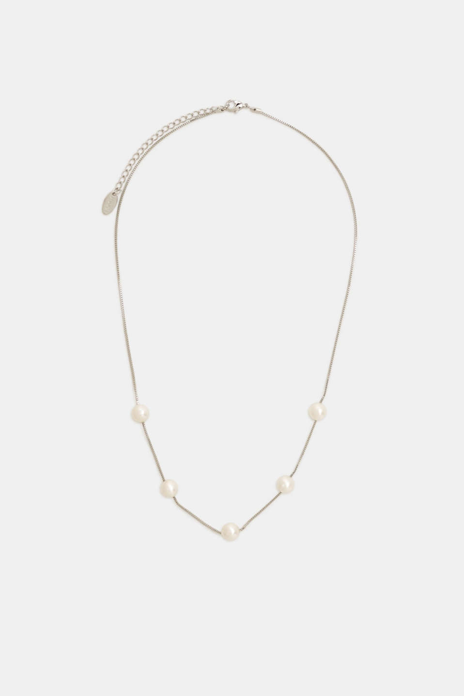 Bead necklace, WHITE, detail image number 0