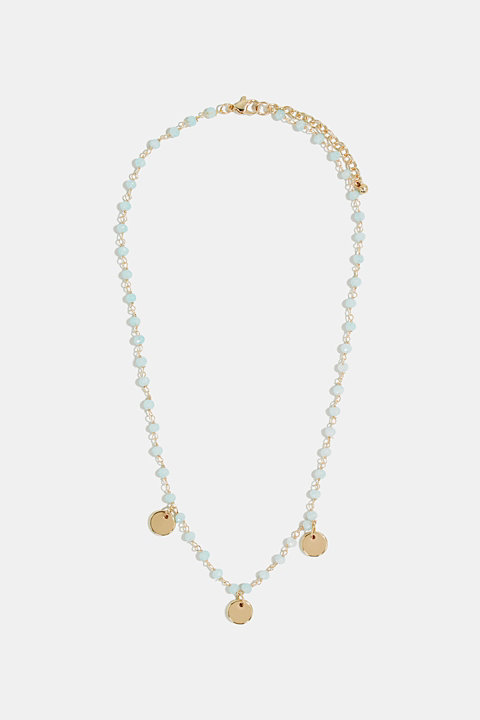 Necklace with glass beads