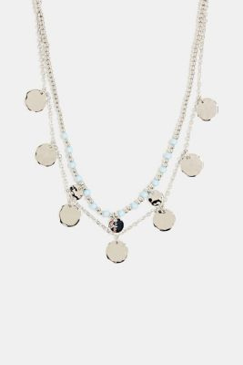 Set of two necklaces with disc pendants, 1COLOR, detail