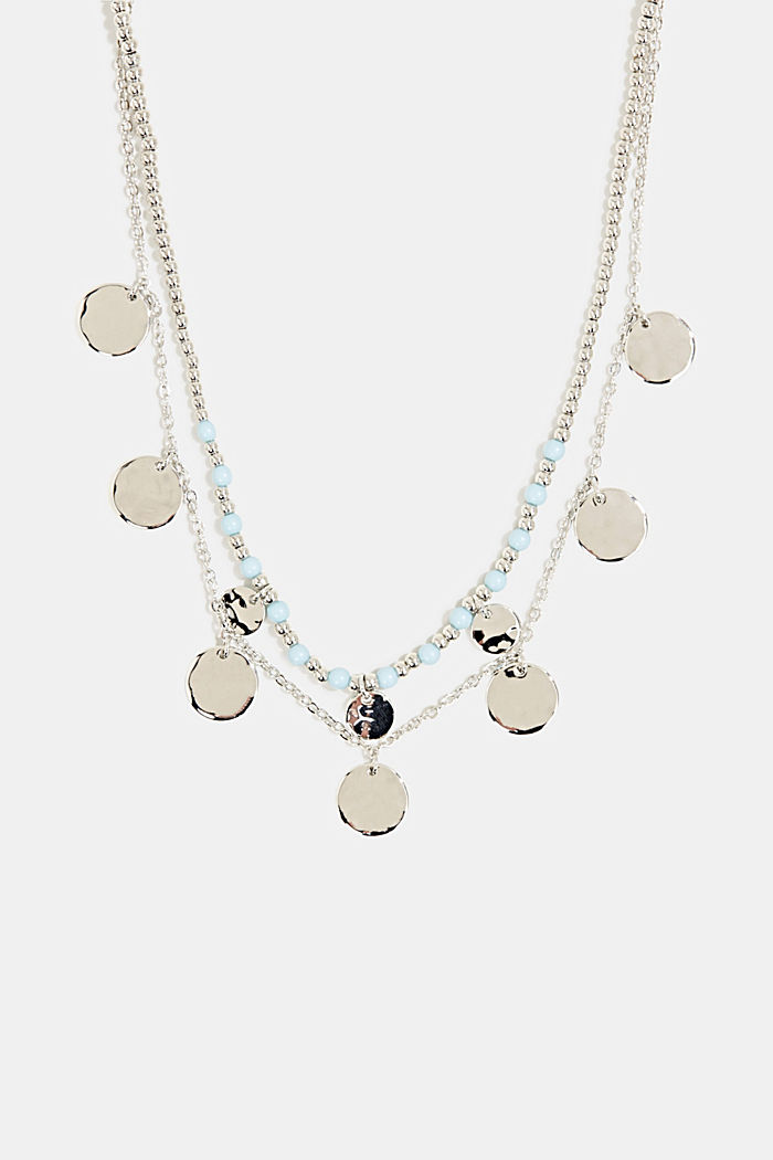 Set of two necklaces with disc pendants, SILVER, detail image number 0