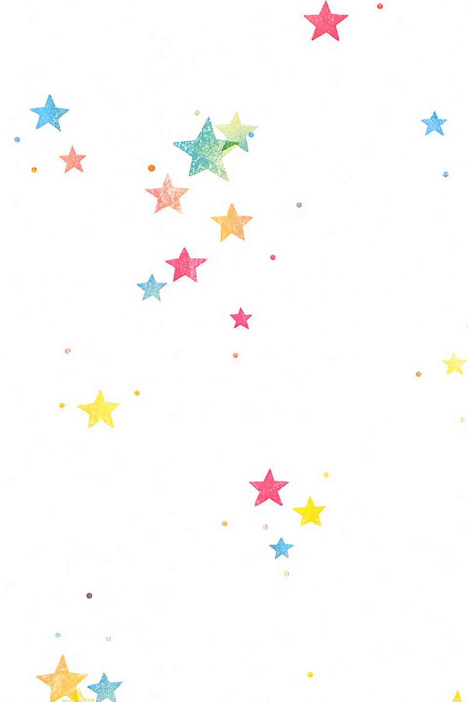 Wallpaper with colourful stars, paper, one colour, detail image number 1