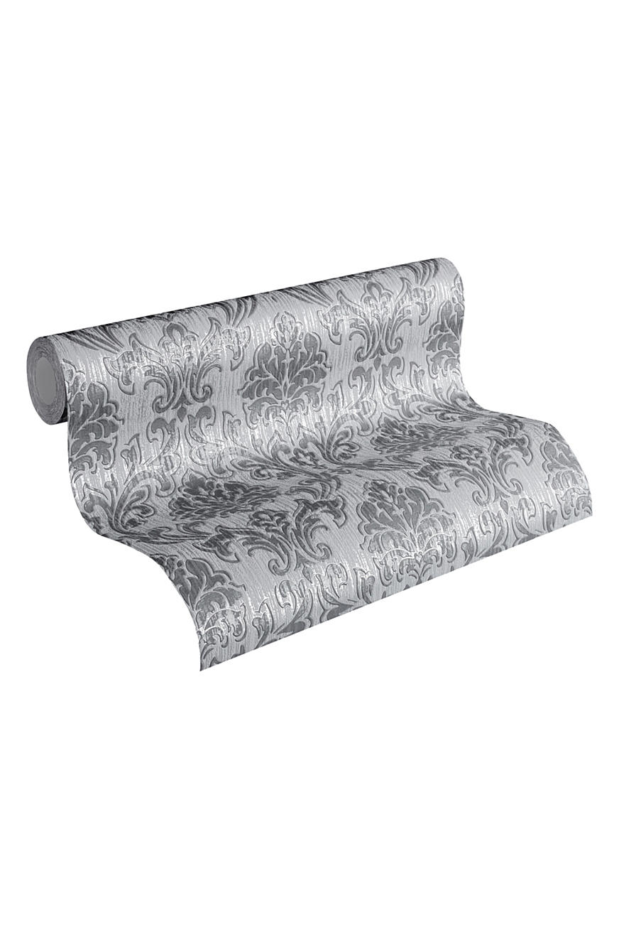Patterned non-woven textile wallpaper