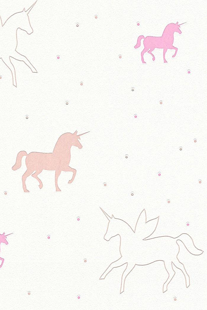 Unicorn motif vlies wallpaper, ONE COLOUR, detail image number 1
