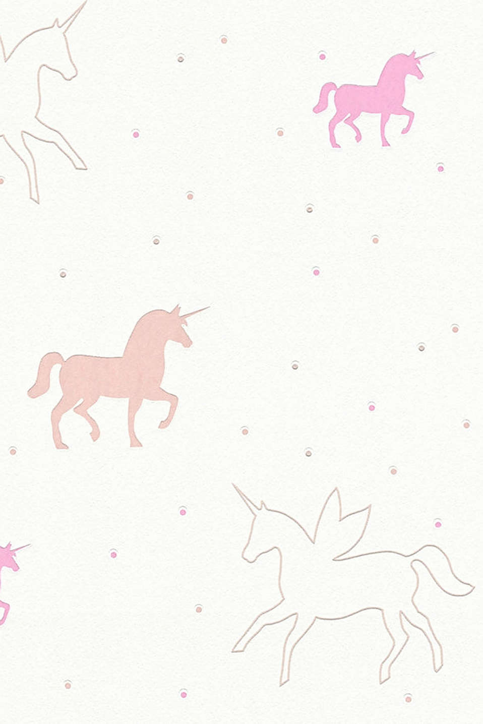 Unicorn motif vlies wallpaper, one colour, detail image number 1