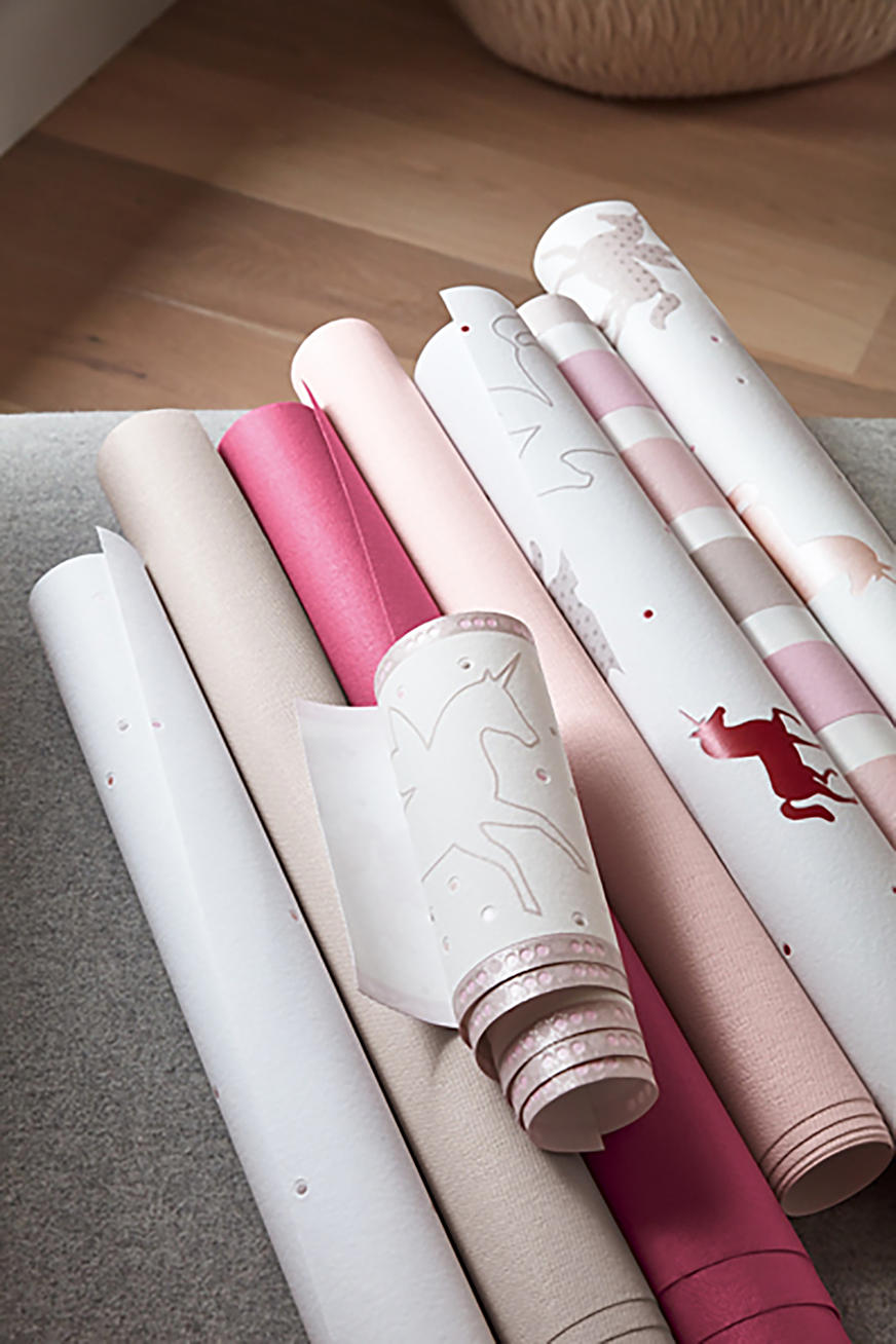 Unicorn motif vlies wallpaper
