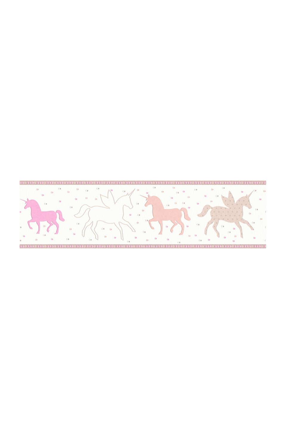 Unicorn motif non-woven textile border, one colour, detail image number 1