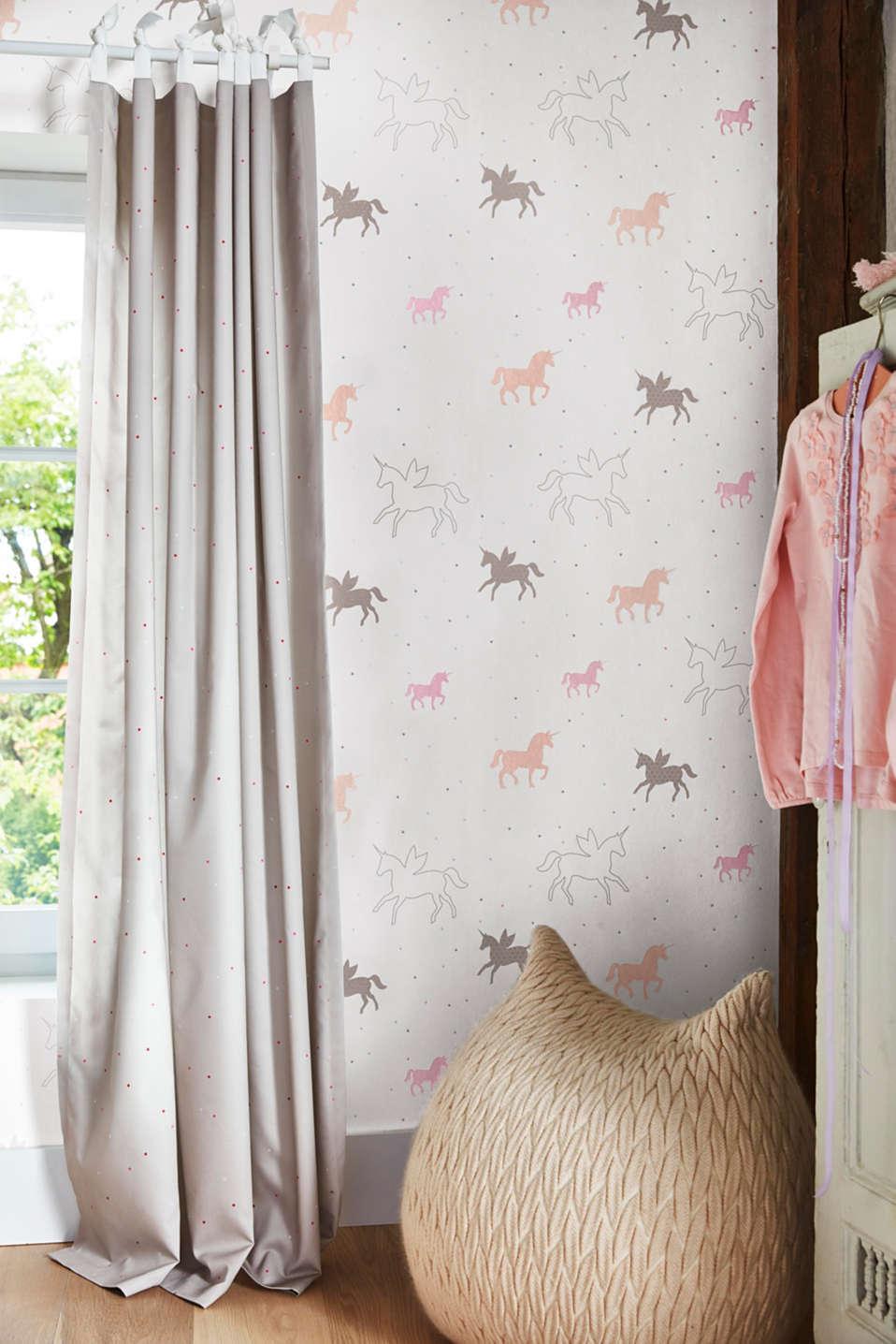 Unicorn motif non-woven textile border, one colour, detail image number 2