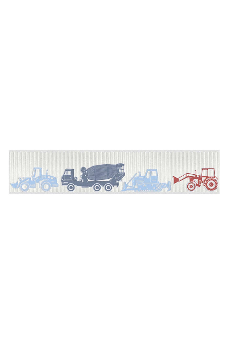 TRACTOR collection - perfect for little boys: excavators and tractors decorate this non-woven textile border.