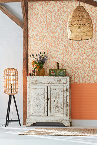 Textured stripe vlies wallpaper