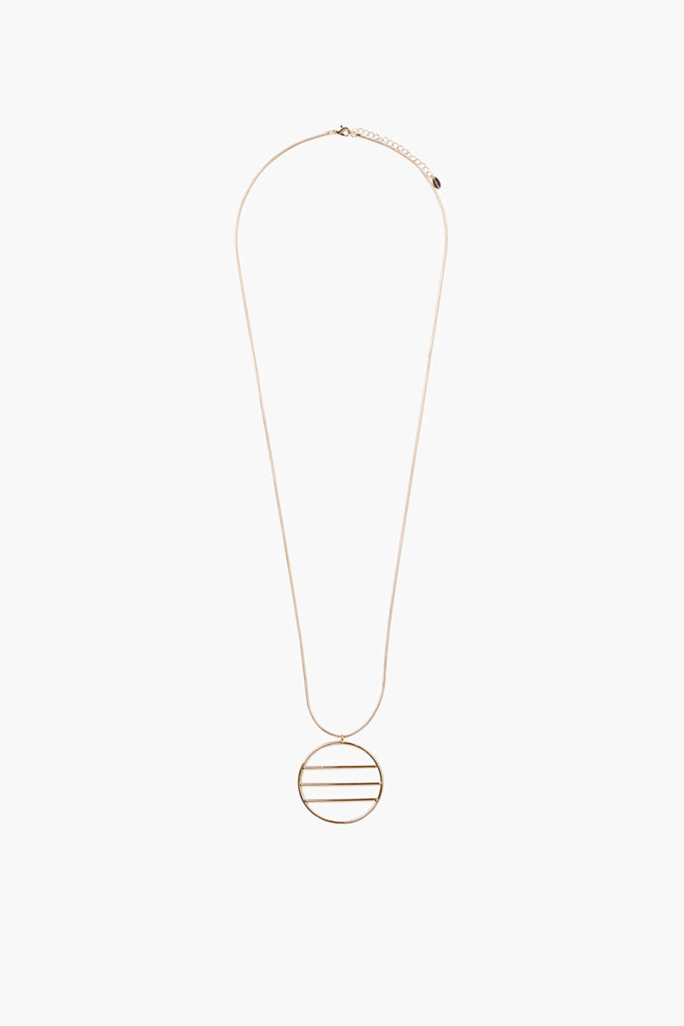 Long necklace with a graphic pendant