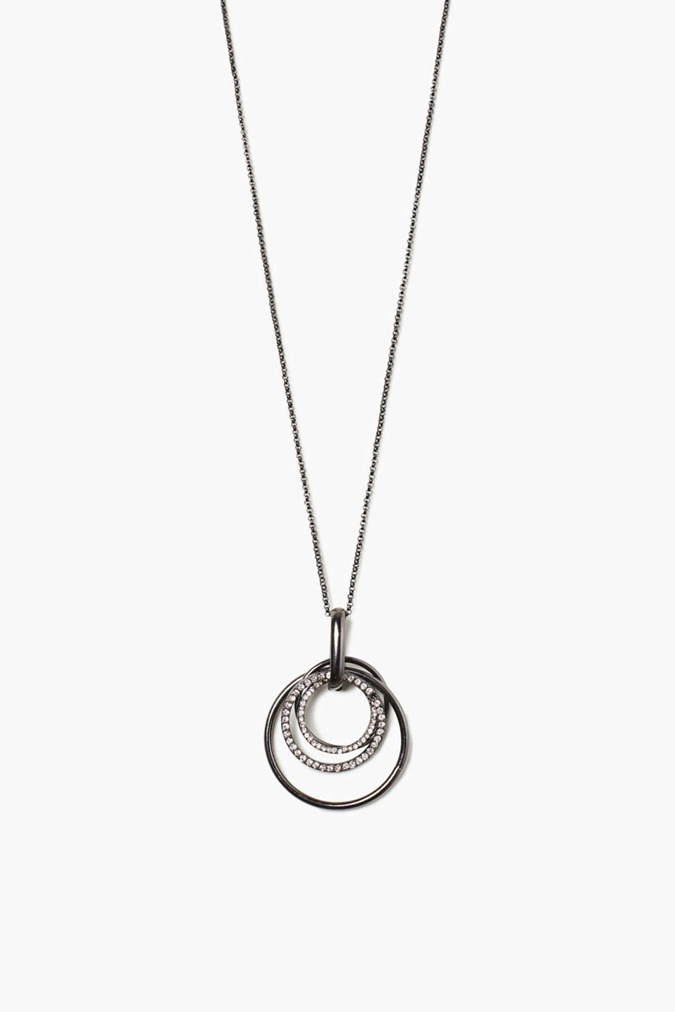 Esprit - Long necklace with ring pendants