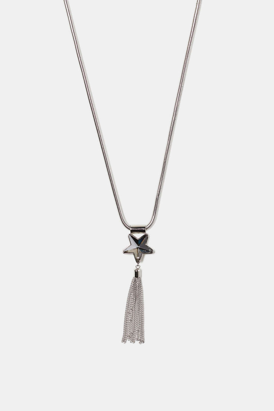 Long necklace with a star pendant + tassel