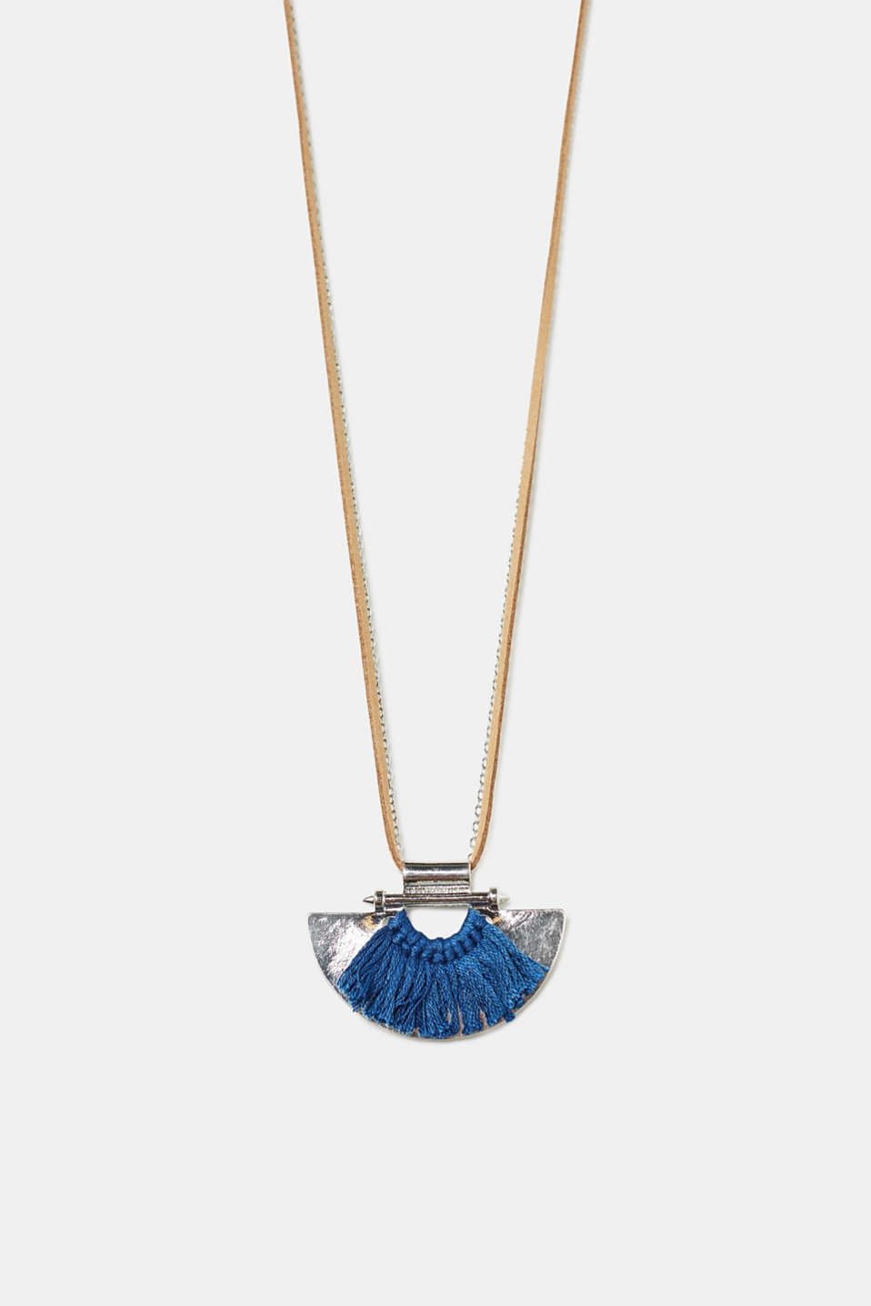 Esprit - Long necklace with a fringed pendant
