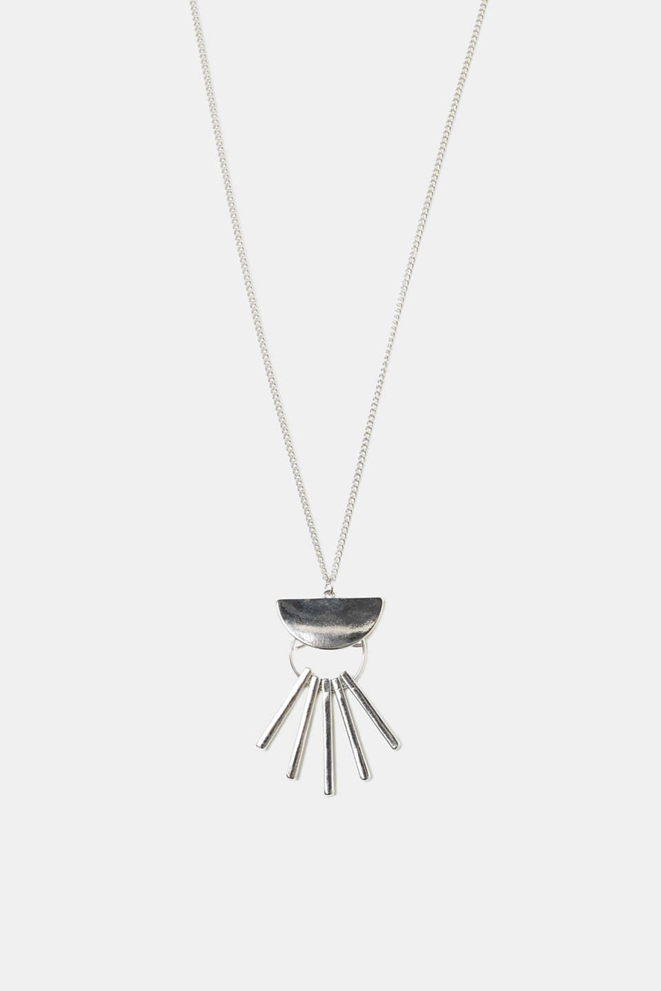Esprit - Long necklace with a geometric pendant