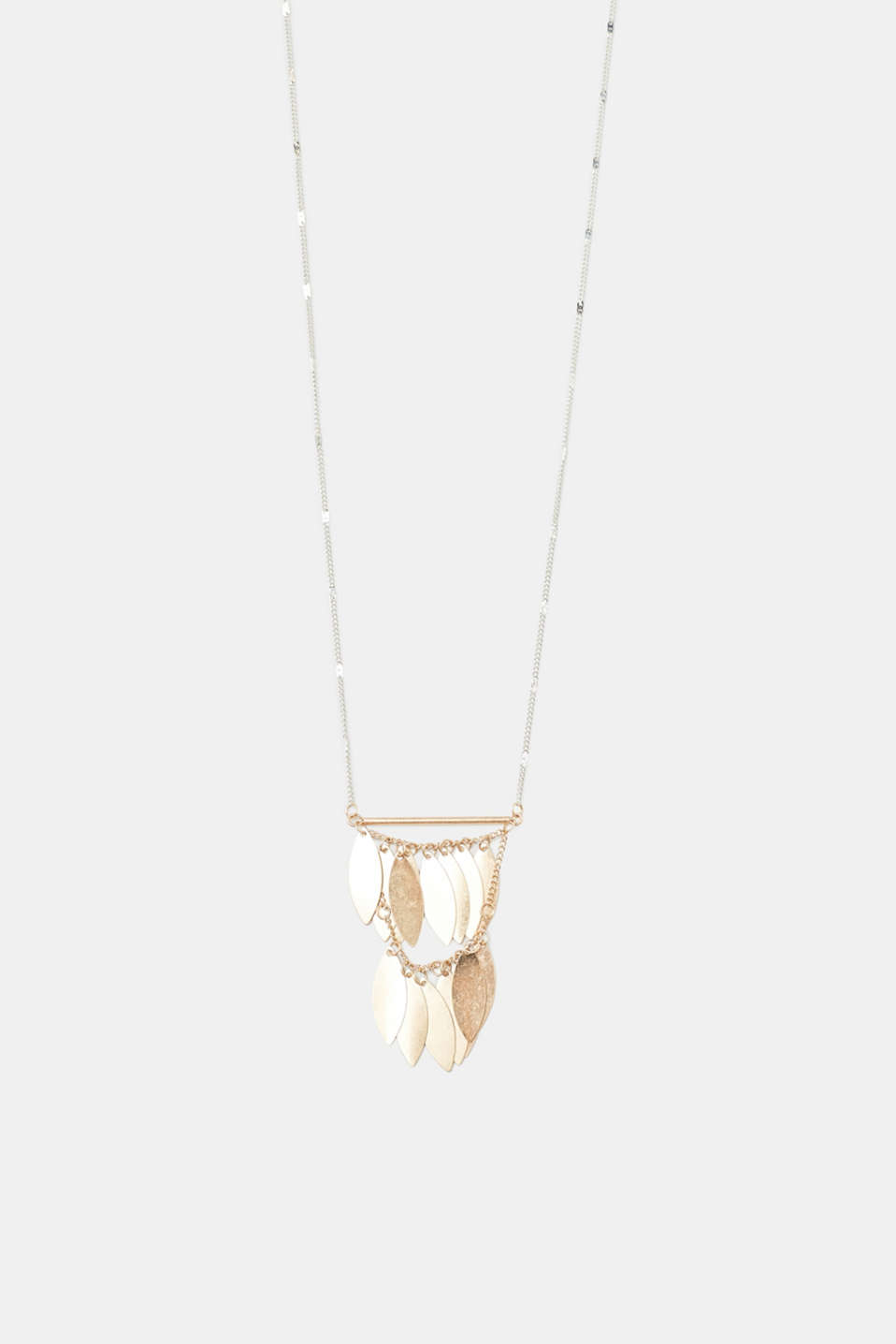 Esprit - Long necklace with leaf charms