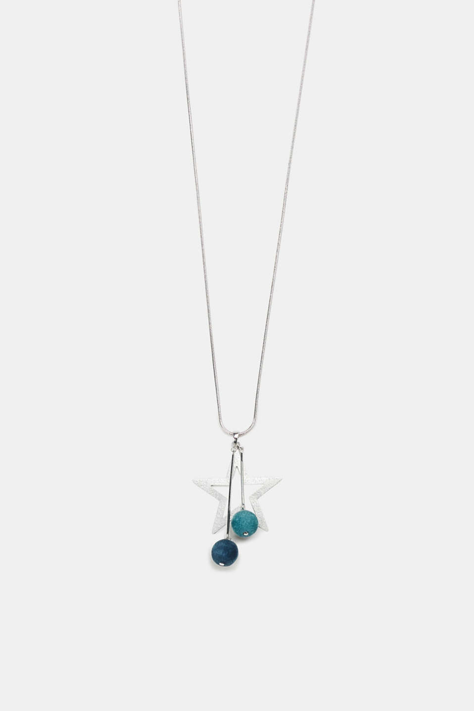 Esprit - Necklace with a star and velvet orbs