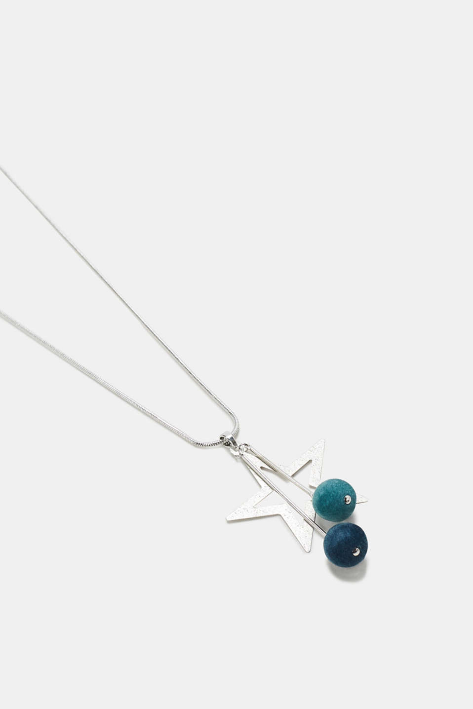 Necklace with a star and velvet orbs, one colour, detail image number 1