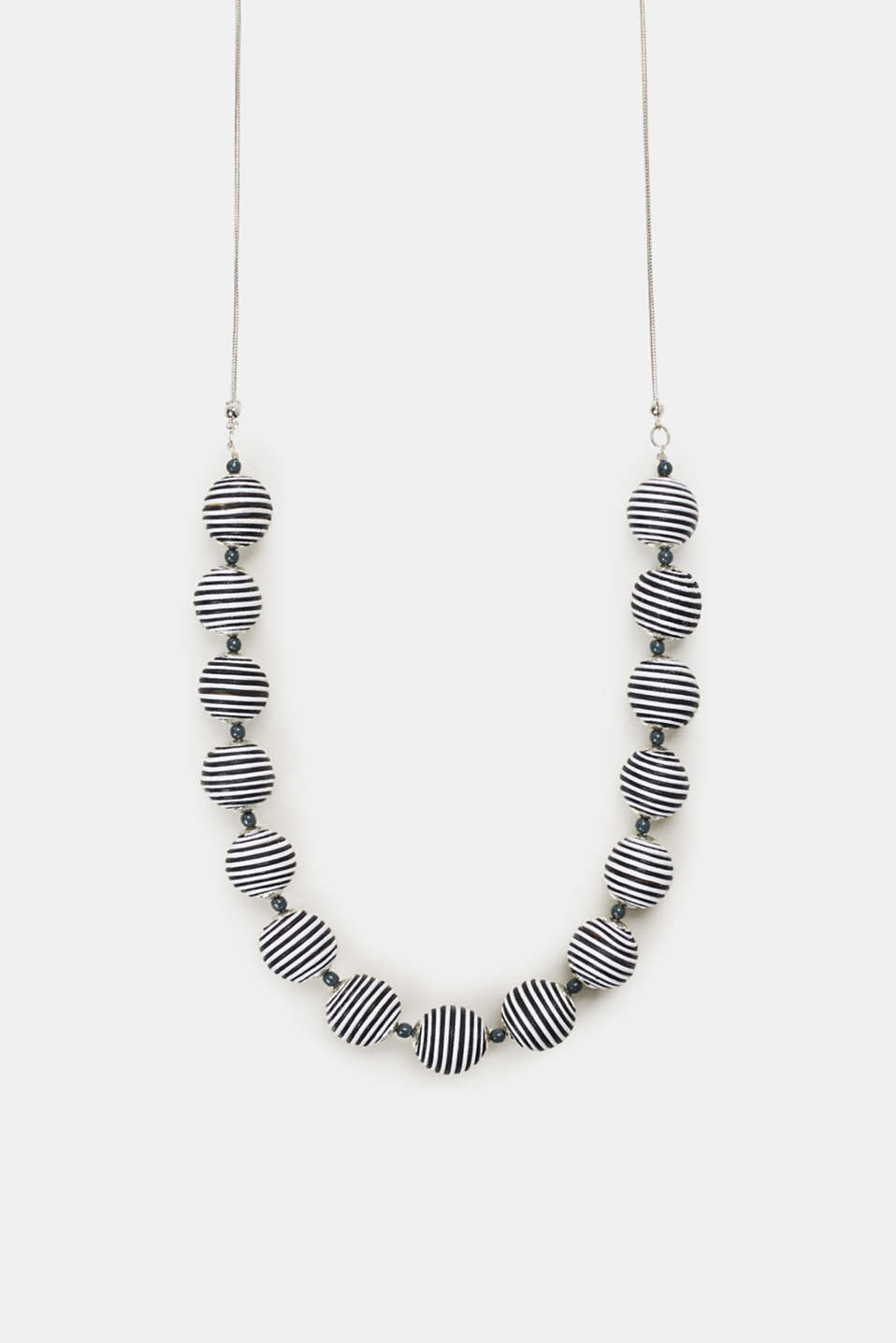 Esprit - Long necklace with black/white beads