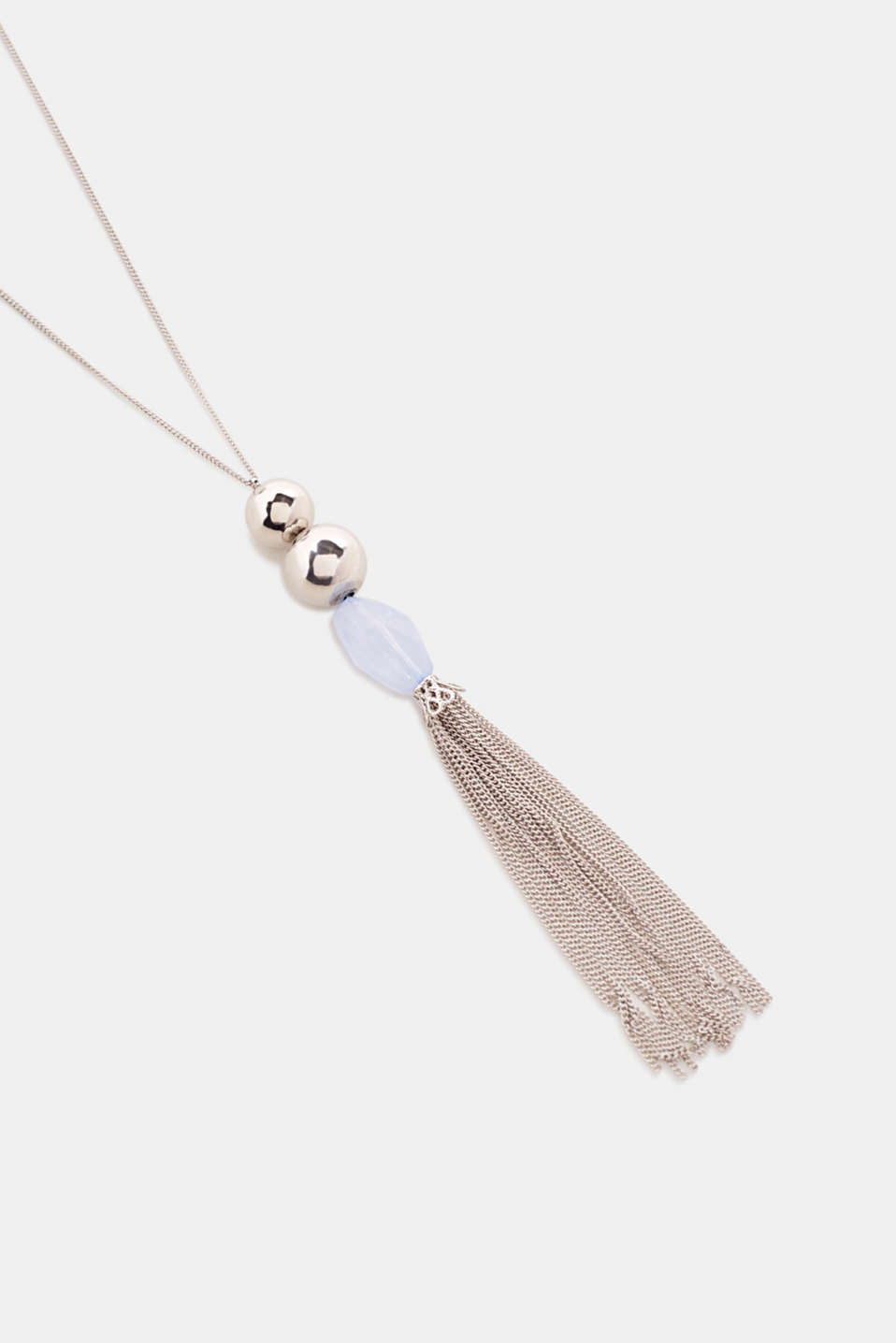 Long necklace with a pendulum pendant, SILVER, detail image number 1