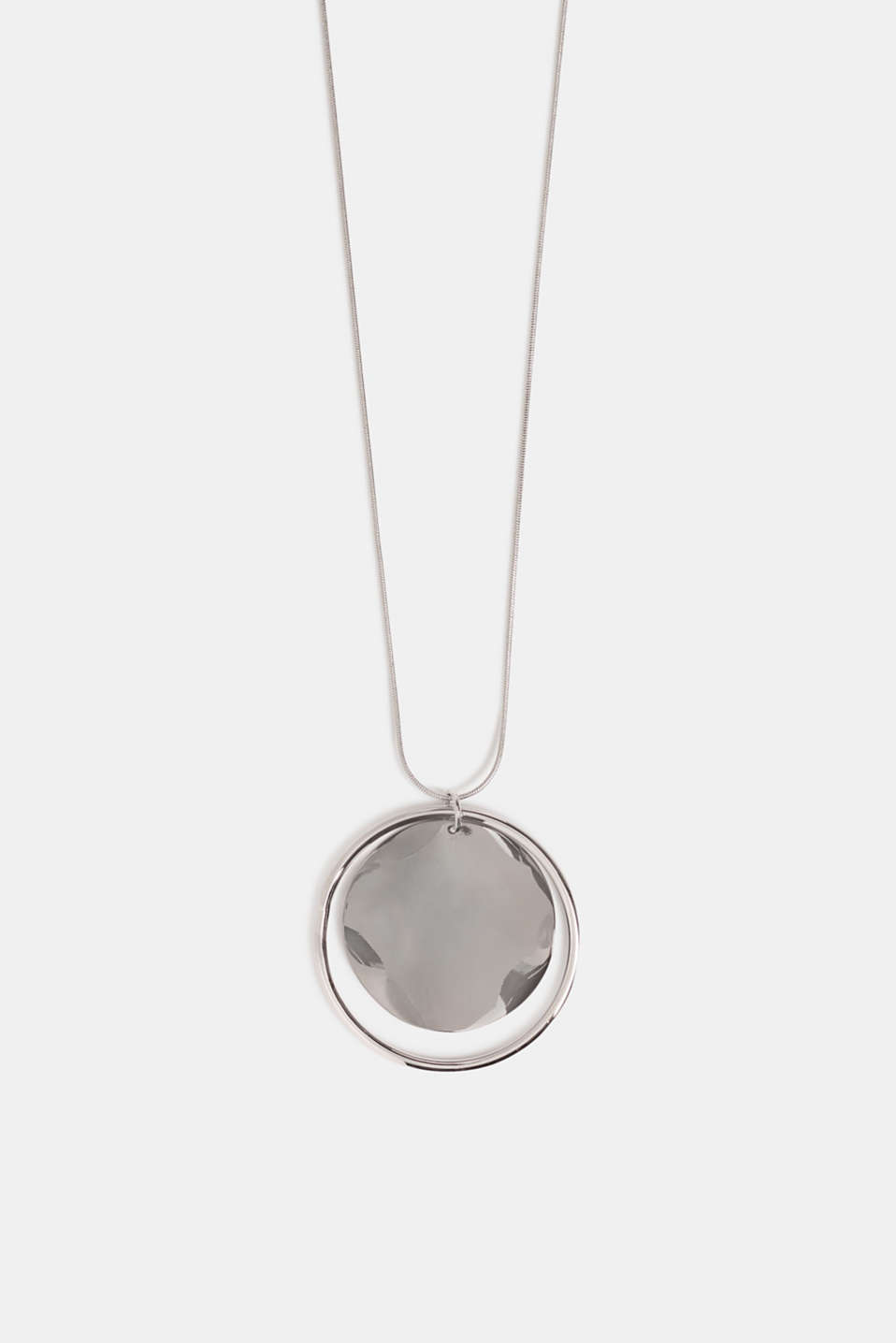 Long necklace with a ring pendant, SILVER, detail image number 0