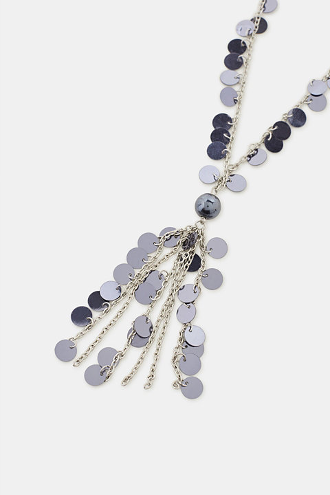 Long necklace with sequins