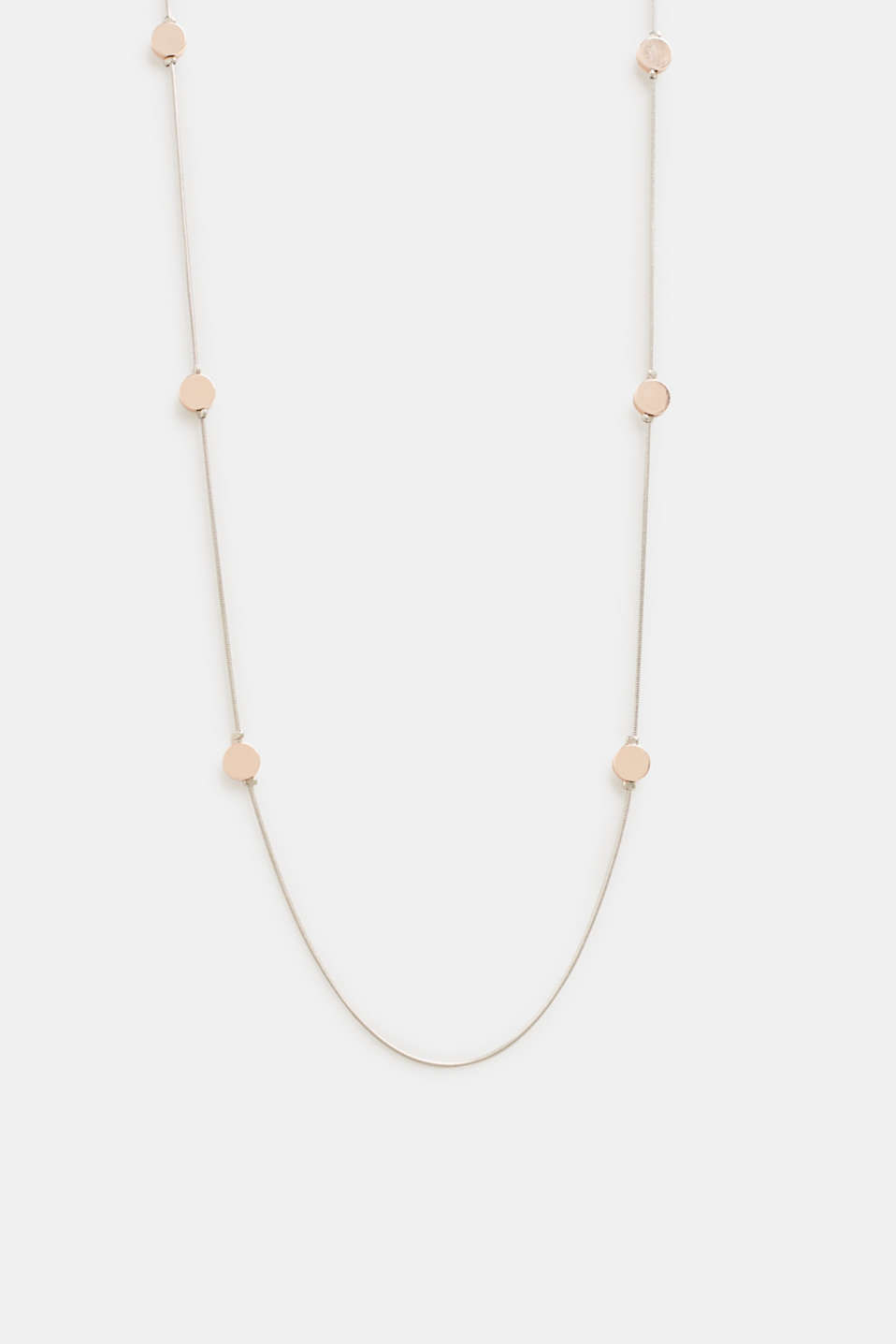 Necklace with little metal discs, ROSEGOLD, detail image number 0