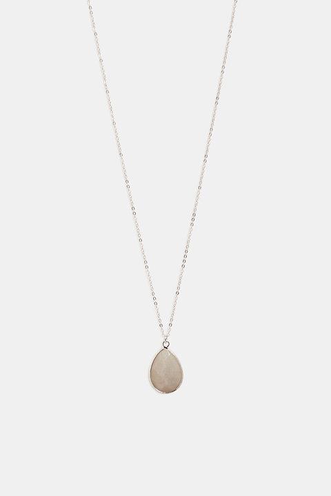 Necklace with a facet-cut stone pendant
