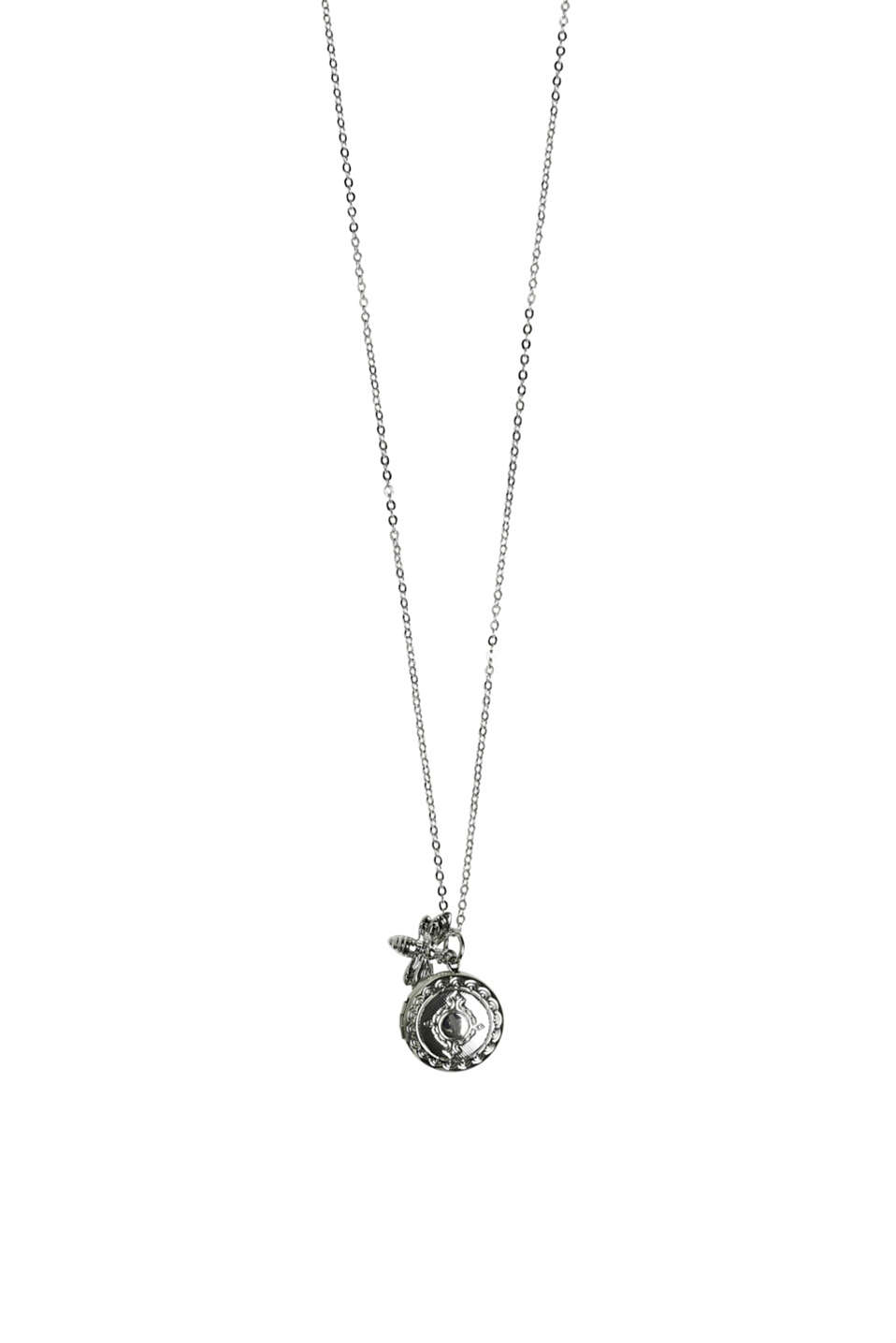 Esprit - Long necklace with a medallion and bee