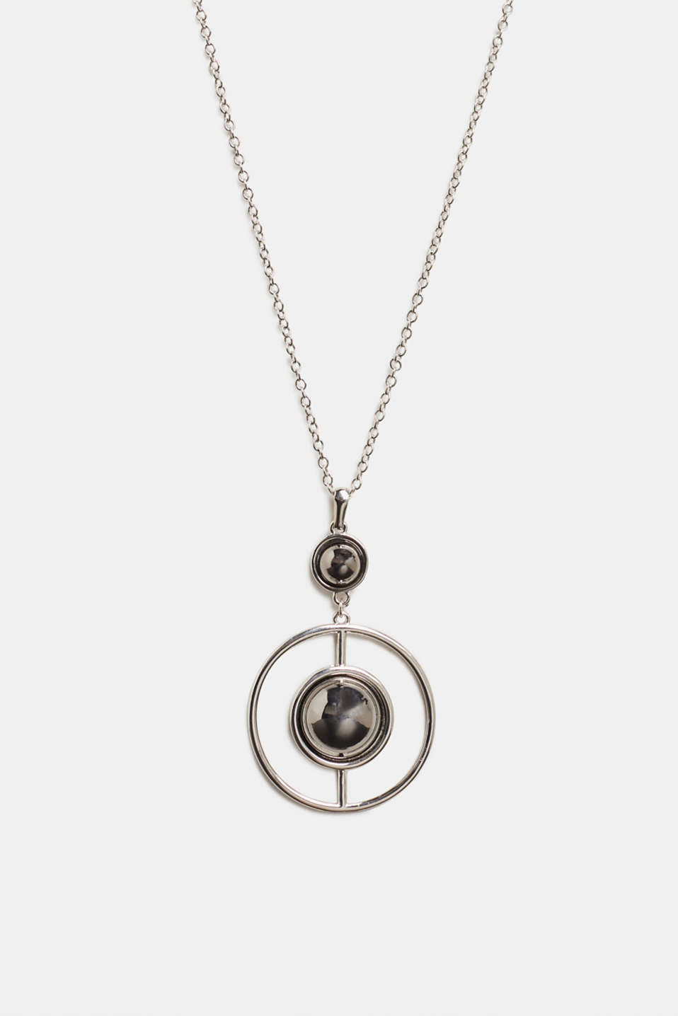 Necklace with a geometric pendant, SILVER, detail image number 0