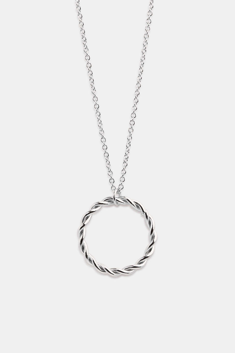 Long necklace with a ring pendant, 1COLOR, detail image number 0