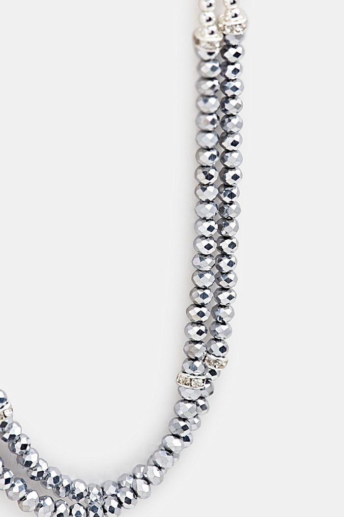 Long necklace with glass beads, ONE COLOUR, detail image number 1
