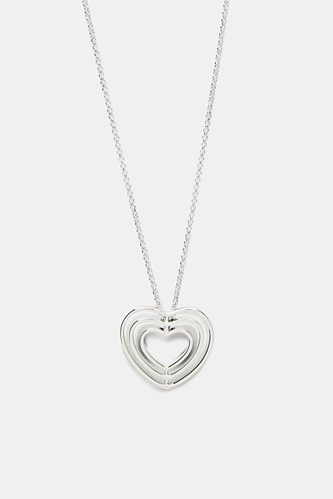 Long necklace with a heart pendant