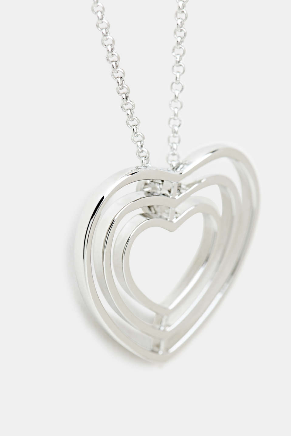Long necklace with a heart pendant, LC1COLOR, detail image number 1