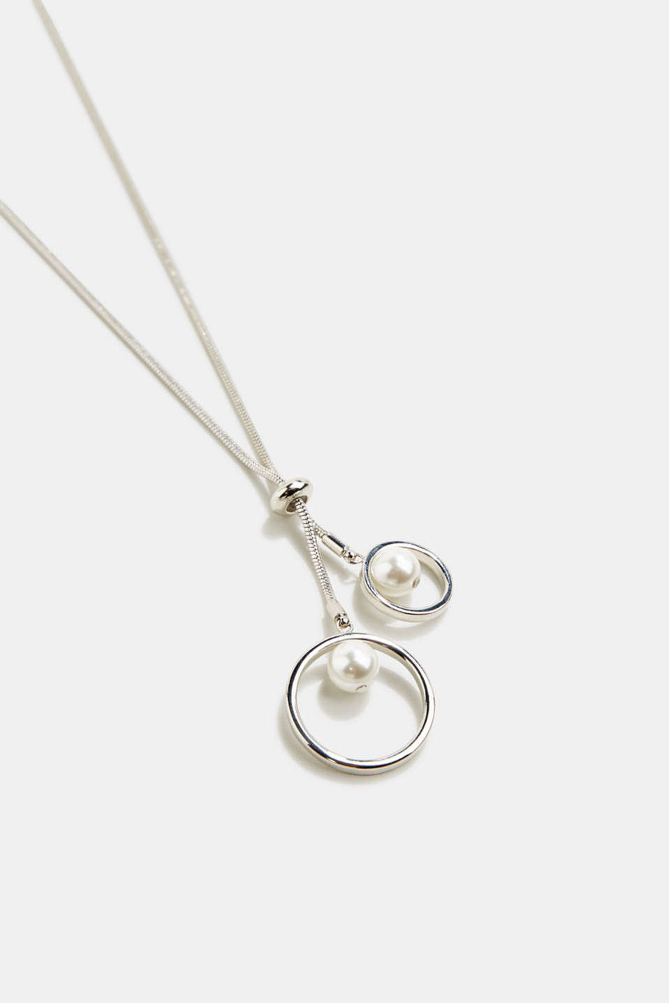 Pendant necklace with a faux pearl, 1COLOR, detail image number 1