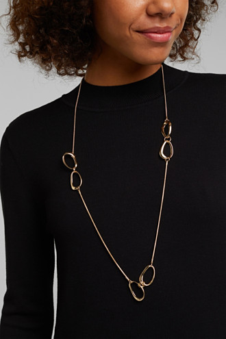 Gold-coloured chain with oval details