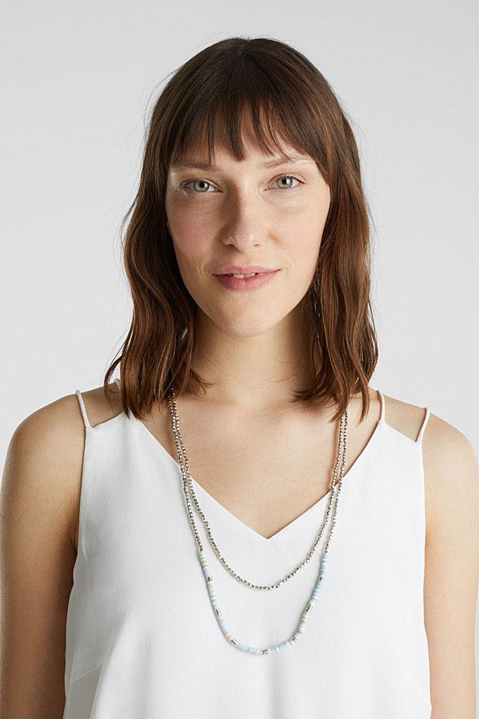 Doppelkette mit Perlchen und Ringen